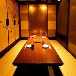 宴会や大事な打ち合わせに使える広めの完全個室。