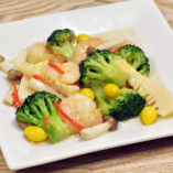 海老と野菜の塩味炒め