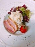 京鴨と漬物のポテトサラダ