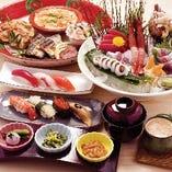 【宴会コース】 充実の寿司宴会は5000円飲み放題付より。