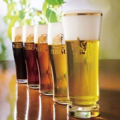 自慢の生ビールは全6種類!