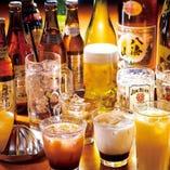 【豊富な飲み放題】 スタンダードは50種!プレミアムは75種