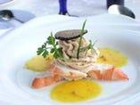 季節の新鮮食材を使った、 五感で楽しむお料理