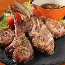 新鮮な仔羊肉から作る『スプリングラムチョップ』