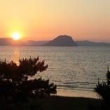 幻想的な夕陽