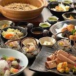◆秋の紅葉コース◆ 2時間飲み放題付♪鮮魚のお刺身や鱧と舞茸の土瓶蒸しに鶏つくね鍋!!