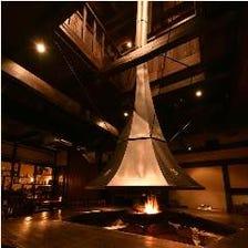 暖炉で過ごす上質なひと時。
