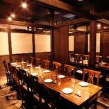 ◆完全個室完備◆ 2~30名様で扉付完全個室をご用意しています。