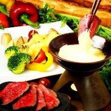 50種類の世界のチーズを創作料理で◎