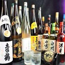 焼酎・日本酒など約300種類