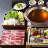 当店の本格和食料理には旬の食材をふんだんに使用しております