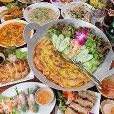 【期間限定鍋コース】牛肉のスパイシー鍋×本格ベトナム料理が味わえる飲放題付き宴会コース