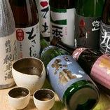 北陸の地酒を10種類程ラインナップ。お得な飲み比べセットも