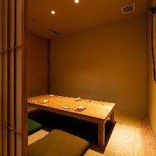 6名様までご利用可能な完全個室