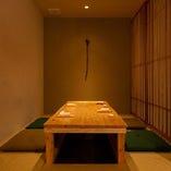 【掘りごたつ席】デート、記念日、誕生日などで重宝される扉付きの完全個室。
