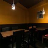 壁に囲われた、半個室!宴会に最適!ご予約はお早めに♪
