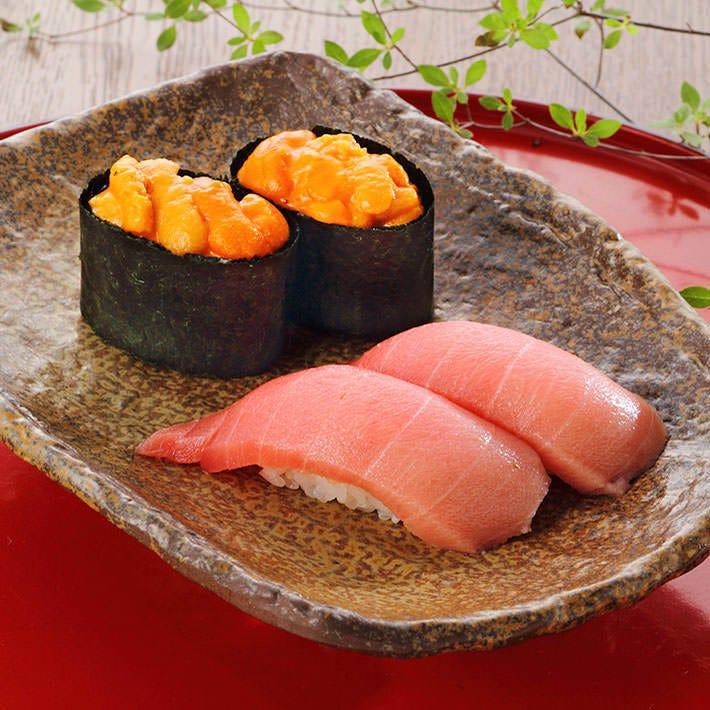 美味しいお酒のお供に美味しい寿司を