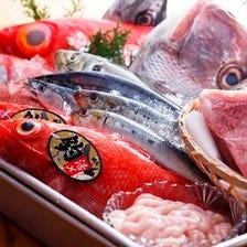 鮮度抜群な天然の魚介類!!