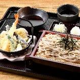 石臼挽き ざる蕎麦と天ぷら御膳