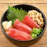 ミニ鉄火納豆丼