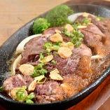 牛ハラミ 鉄板ステーキ