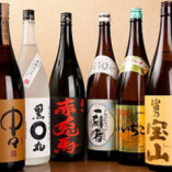 日本酒や焼酎も豊富