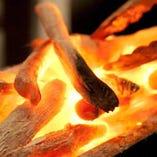 備長炭で焼き上げます