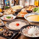 忘年会や新年会にも!冬の宴会4,000円~。限定鍋のコースも!