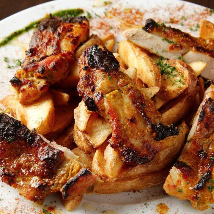 【歓迎会、送別会】メイン選べる大山鶏もも肉orローストビーフ宴会を堪能プラン【2h飲放付 全9品 5000円コース】