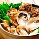 自家製合わせ味噌のかき鍋。かじか鍋や海鮮鍋、高級魚きんき鍋も