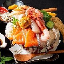 ごはん大盛り無料!海鮮丼・天丼