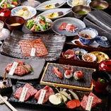 上山形牛の3種盛りが含まれる!結納や記念日などのお祝い事には『寿-KOTOBUKI-』