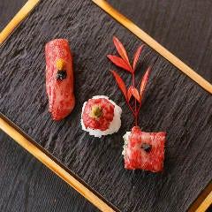 本日の和牛寿司 3種盛合せ