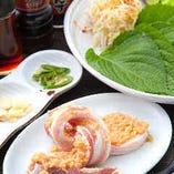 特製生姜塩タレ厚切りサムギョプサルセット