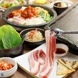 宴会に最適◆サムギョプサルと韓国料理食べ放題コース♪♪