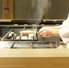 備長炭で食材の良さを引き出します