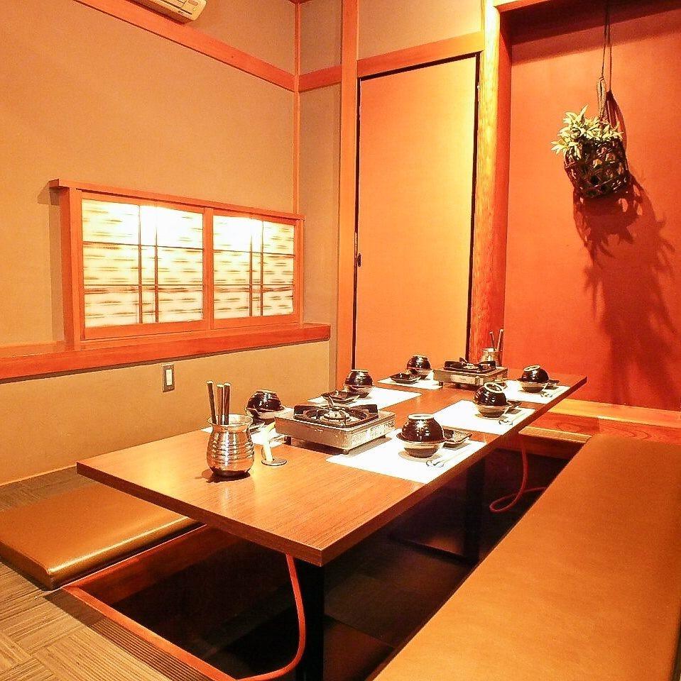 ◆ 6名様~8名様 個室 ◆  掘りごたつ 個室 です。