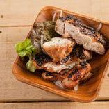 国産鶏モモ マスタードソース焼き