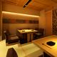 掘り炬燵式の2F席。京町屋の風情をお楽しみください。