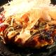 サクサクした触感がたのしい京風お好み焼き「ぽん焼き」。