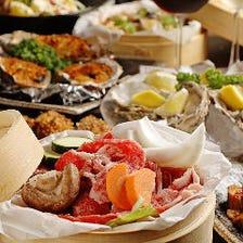 2時間飲み放題付!多彩な牡蠣料理と黒毛和牛のローストが自慢『YUMMYコース』全11品