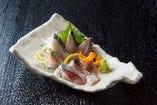 長崎・ハーブ鯖の刺身