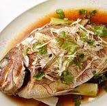 飲み放題付き5000円以上コースを8名様以上でご利用のお客様に鯛の姿煮をサービス!!