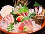 瀬戸内の鮮魚盛り合わせ