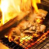 宮崎名物地鶏の炭火焼き