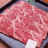 サシの綺麗なお肉 口の中でとろけます