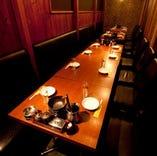 【個室】個室を繋げて団体様向け多種多様。お席はお問い合わせを