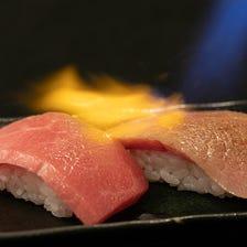 【数量限定】とろける特選黒毛和牛の炙り肉のお寿司