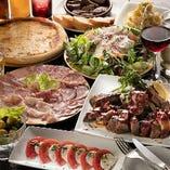 会社宴会や打ち上げ、肉女子会など各種パーティーに最適な飲み放題付コースは全5種ご用意