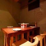 【4名様】少人数向けテーブル席
